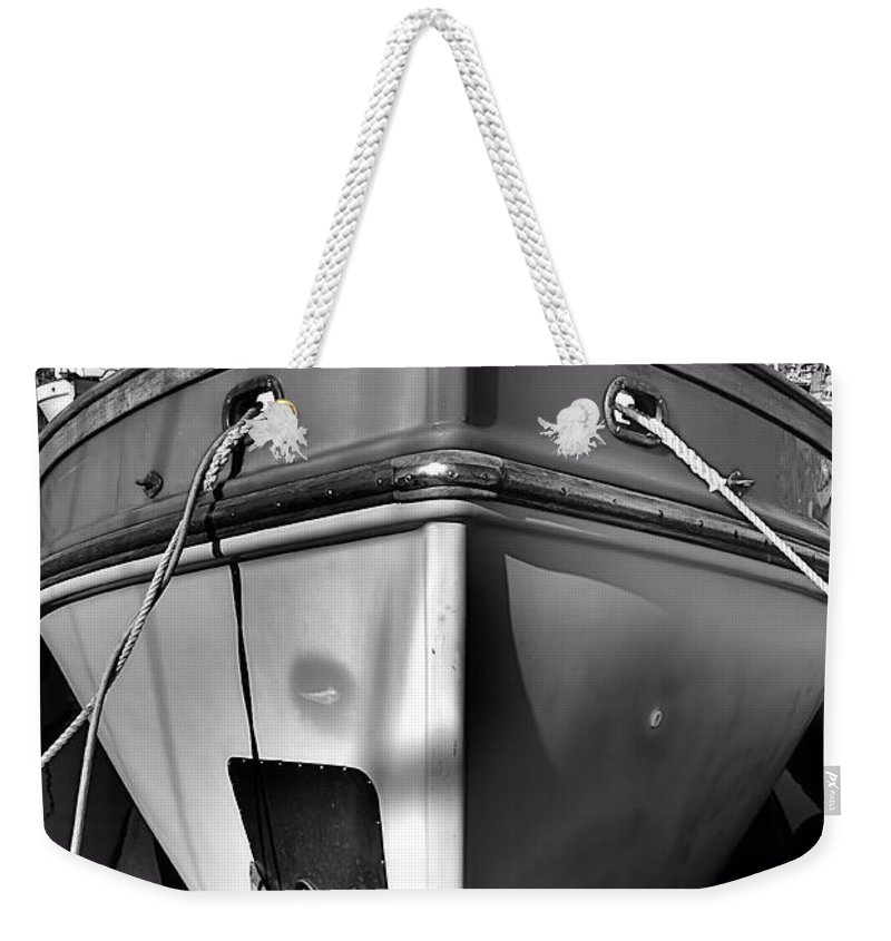 Abstract Weekender Tote Bag featuring the photograph Up Front by Lauren Leigh Hunter Fine Art Photography
