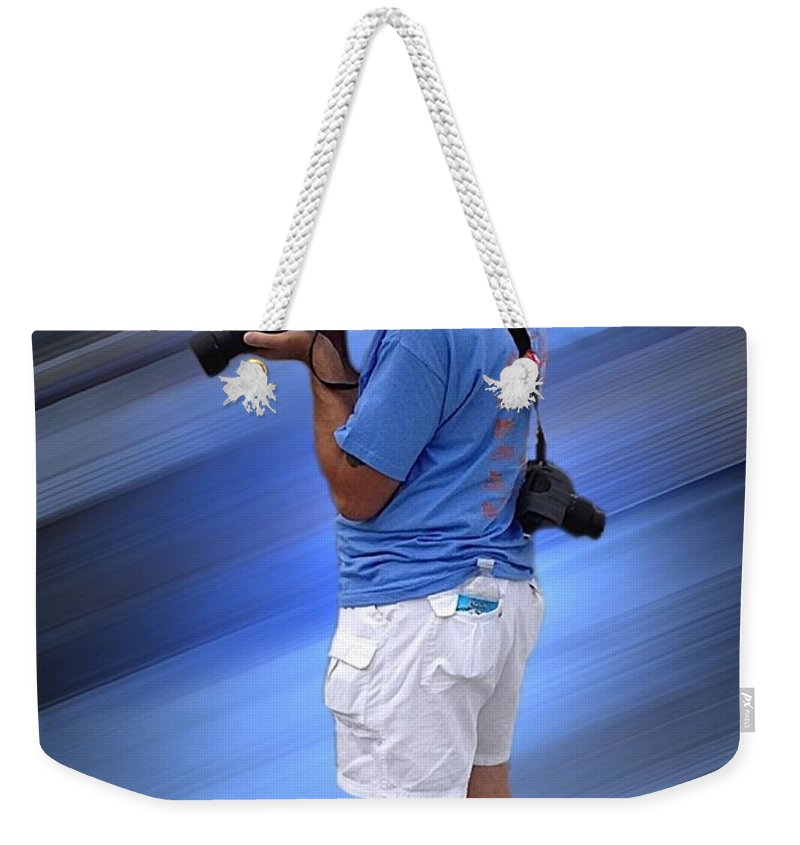 Tom Woolworth Weekender Tote Bag featuring the photograph Up On The Roof Tops by Thomas Woolworth