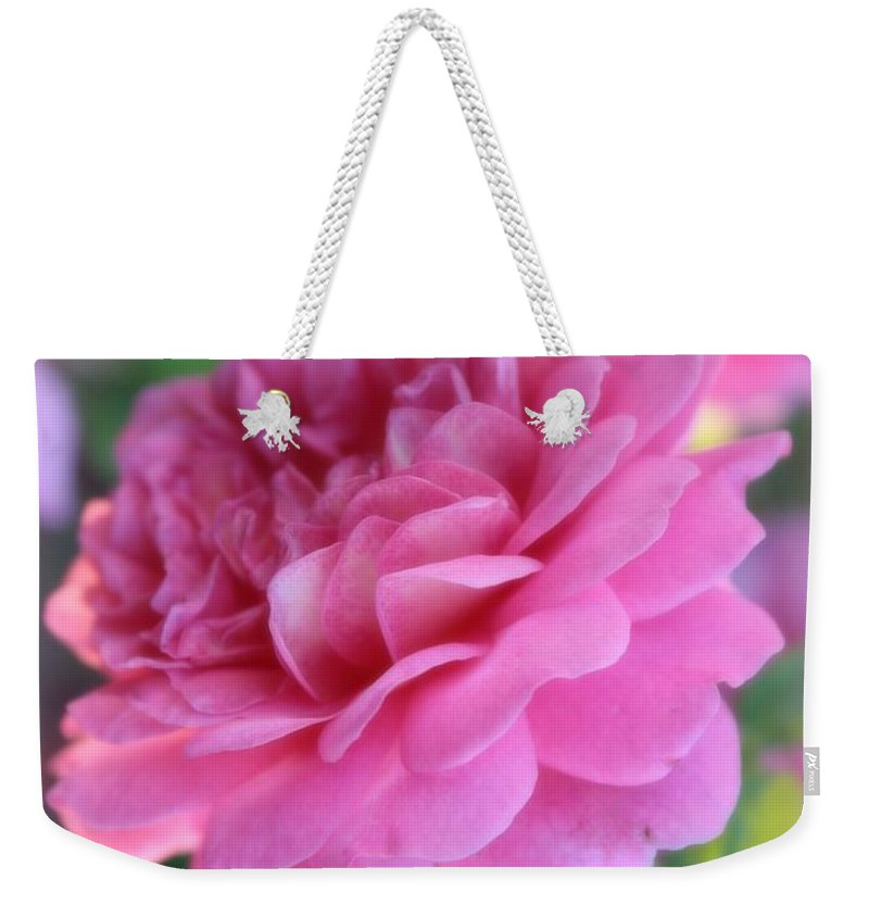 Pink Weekender Tote Bag featuring the photograph Uplifting by Carol Groenen
