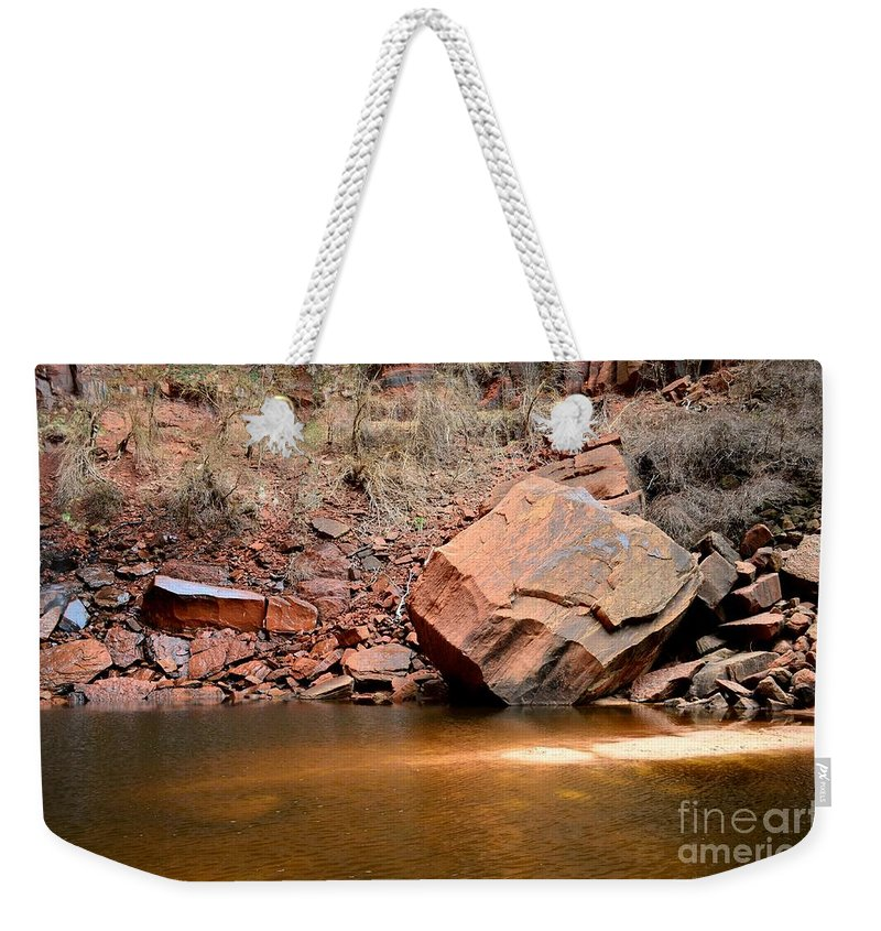 Upper Emerald Pools Weekender Tote Bag featuring the photograph Upper Emerald Pools At Zion National Park by Rincon Road Photography By Ben Petersen