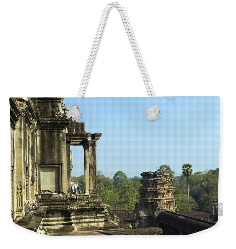 People Weekender Tote Bag featuring the photograph Upper Level Angkor Wat, Angkor, Cambodia by Photo By D. Johnson