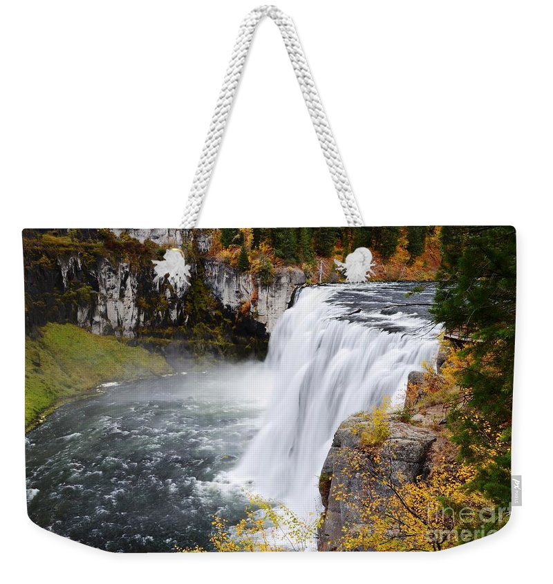 Mesa Falls Weekender Tote Bag featuring the photograph Upper Mesa by Deanna Cagle