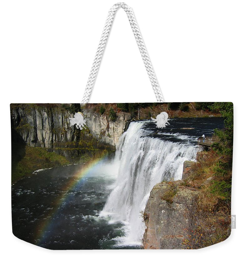 Waterfall Weekender Tote Bag featuring the photograph Upper Mesa Falls Idaho by Robert Woodward
