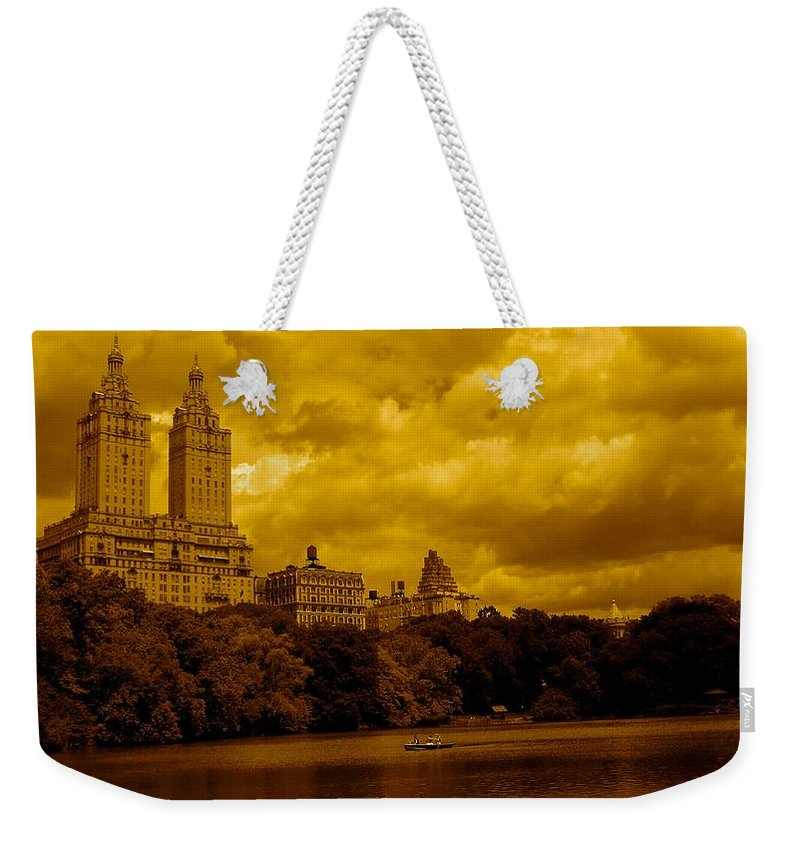 Iphone Cover Cases Weekender Tote Bag featuring the photograph Upper West Side And Central Park by Monique's Fine Art
