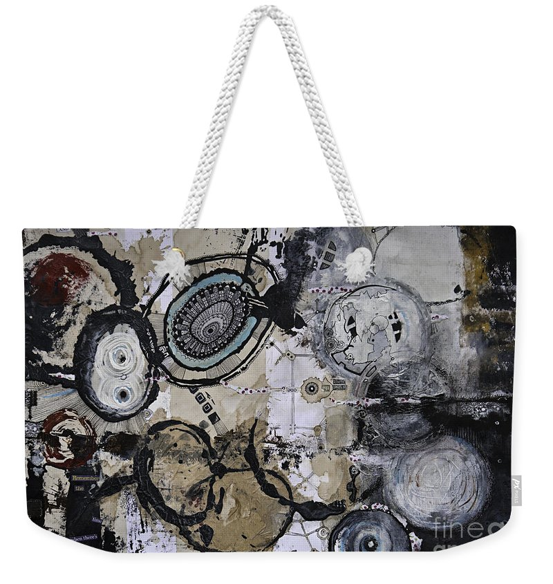 Acrylic Weekender Tote Bag featuring the painting Upside Down And Inside Out by Jay Taylor