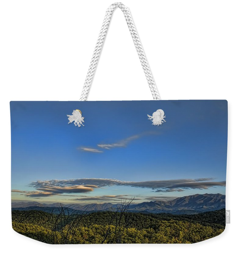 Tennessee Weekender Tote Bag featuring the photograph Upslope Flow by Steven Richardson