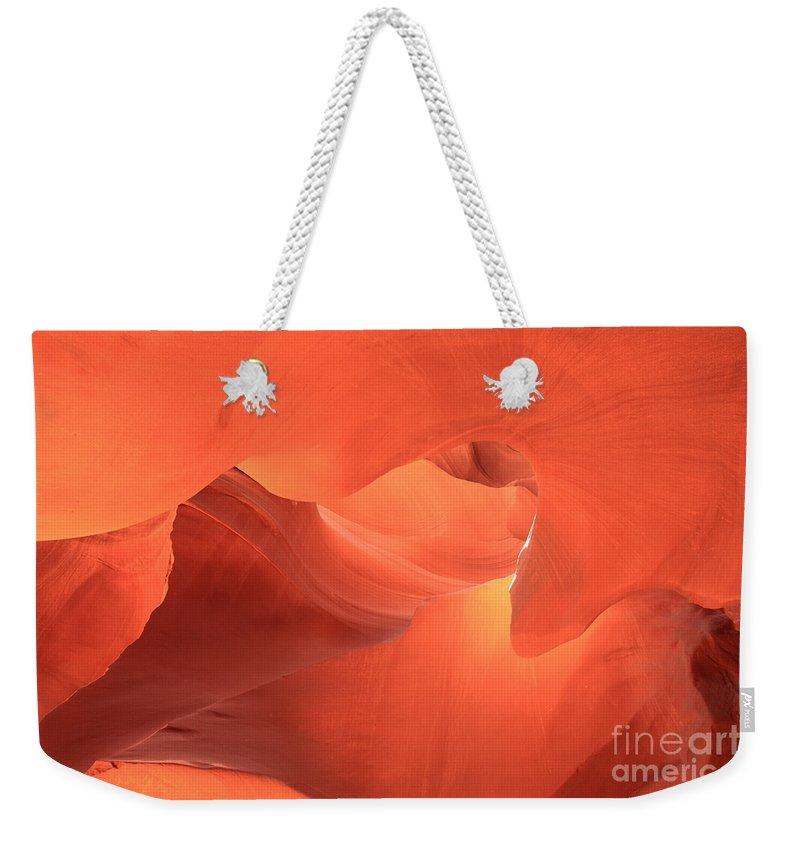 Arizona Slot Canyon Weekender Tote Bag featuring the photograph Upward Gaze by Adam Jewell