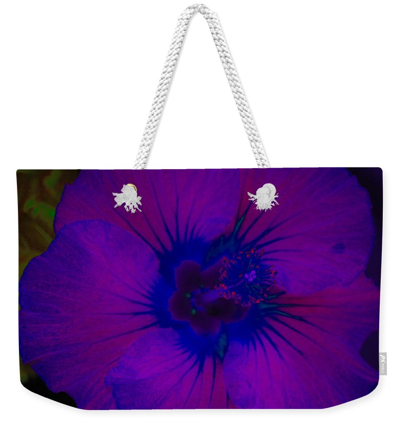 Flower Weekender Tote Bag featuring the photograph Urban Art Hibiscus II by Kathy Sampson