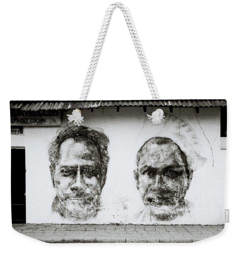 Graffiti Weekender Tote Bag featuring the photograph Urban Art In Cochin by Shaun Higson