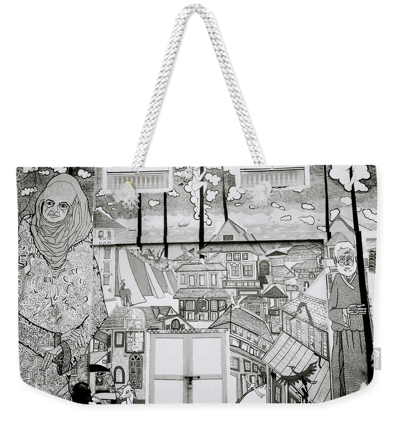 India Weekender Tote Bag featuring the photograph Urban Art In Fort Cochin by Shaun Higson