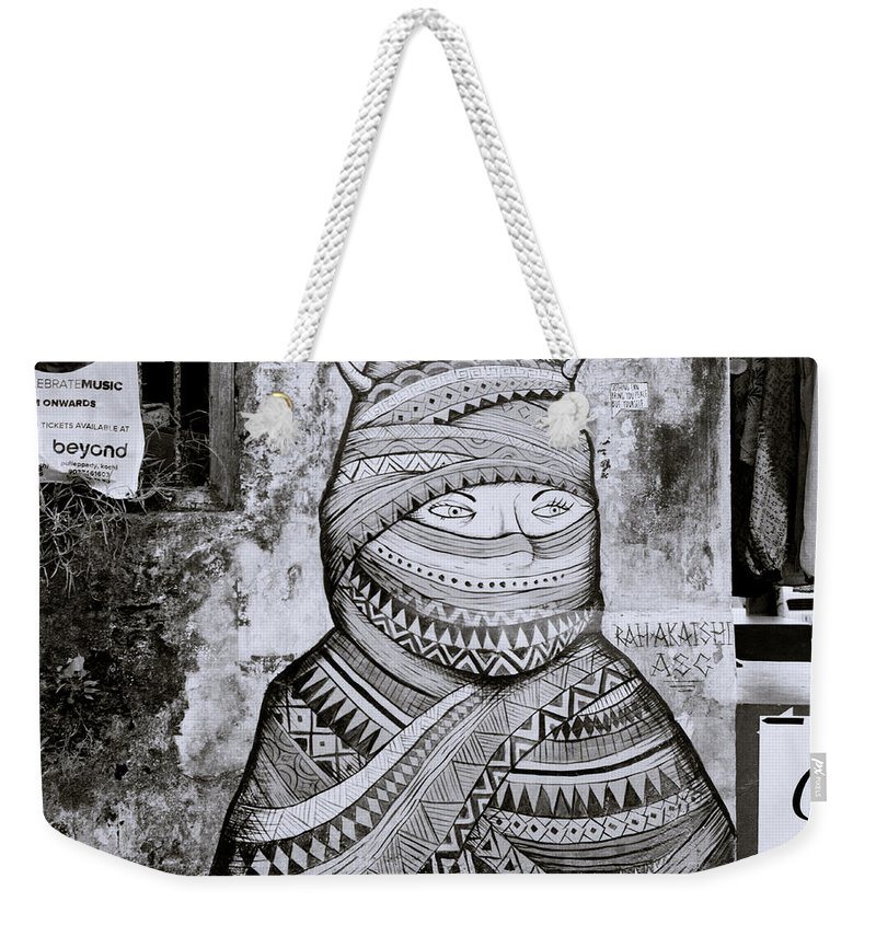 Graffiti Weekender Tote Bag featuring the photograph Urban Secrecy by Shaun Higson
