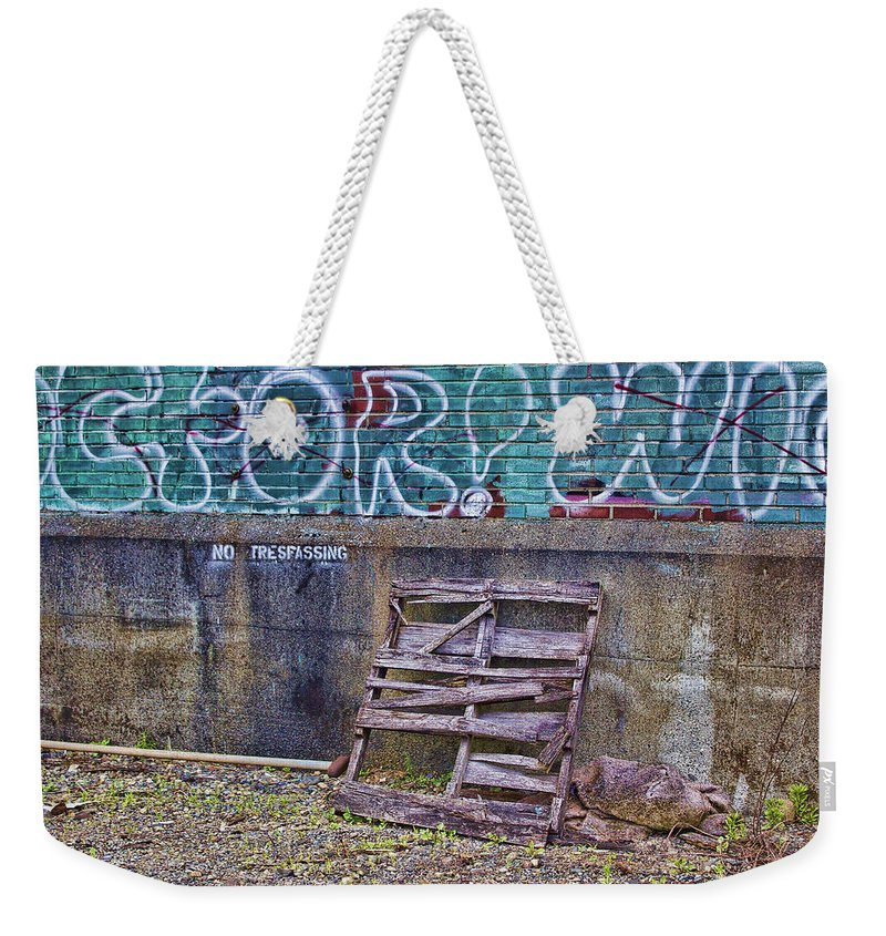 Graffiti Weekender Tote Bag featuring the photograph Urban Artistry Two by Cathy Anderson