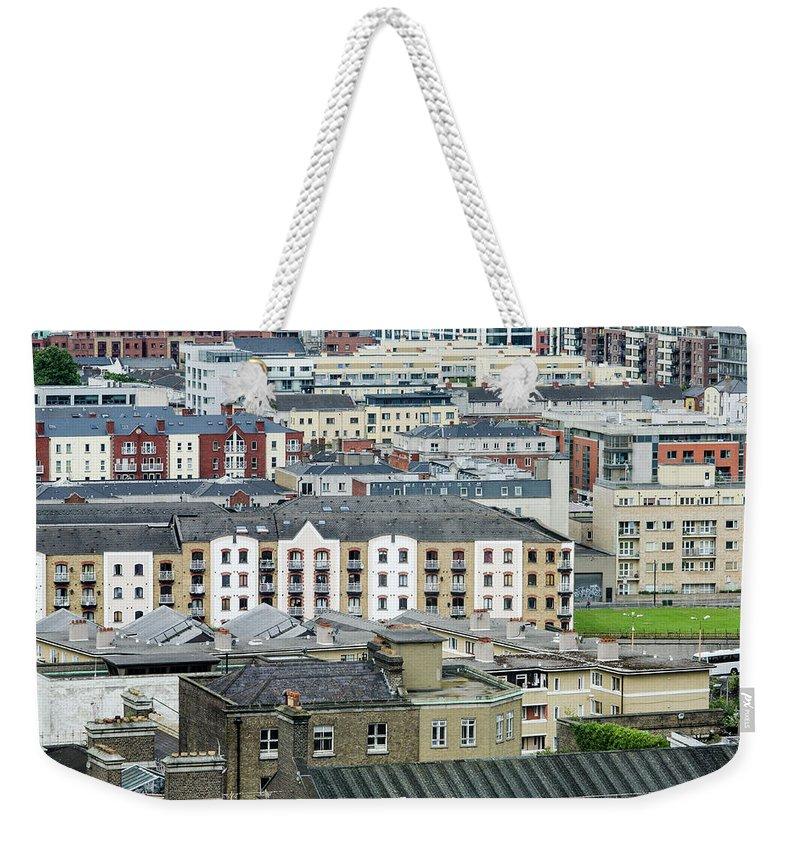 Dublin Weekender Tote Bag featuring the photograph Urban Buildings Of Dublin by Megan Ahrens