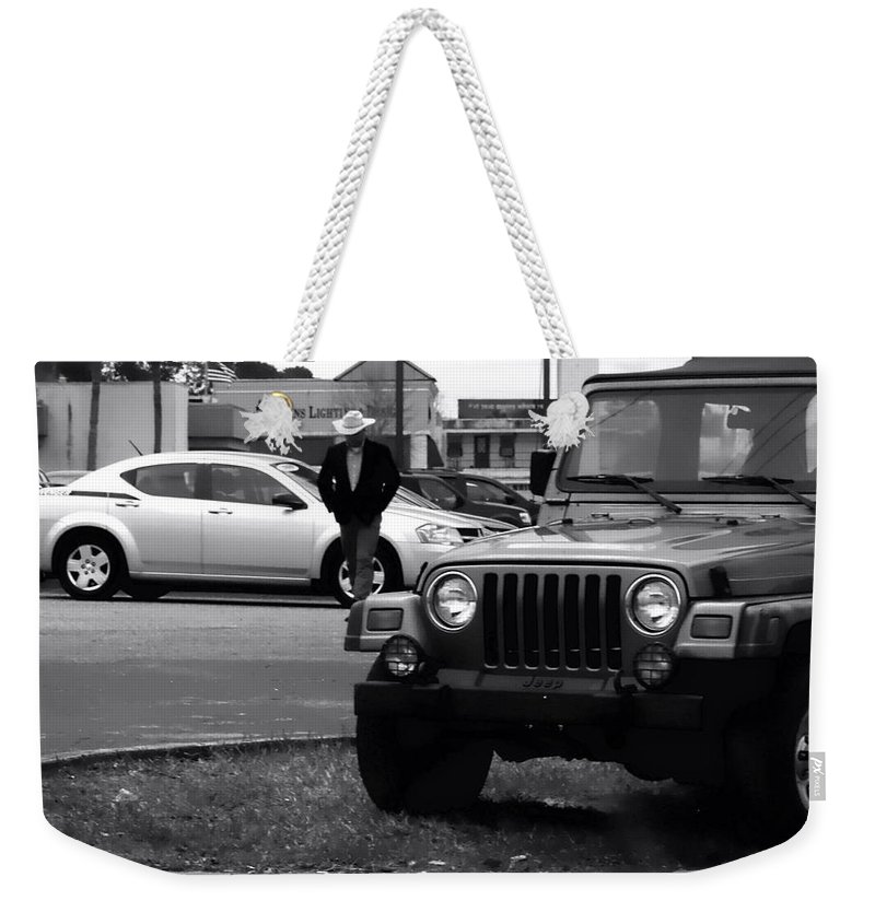 Cowboy Weekender Tote Bag featuring the photograph Urban Cowboy by Debra Forand