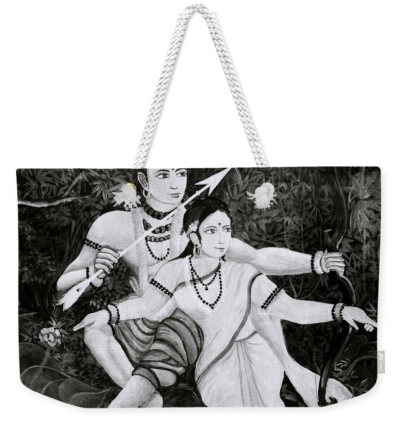Spirituality Weekender Tote Bag featuring the photograph The Hindu Epic by Shaun Higson