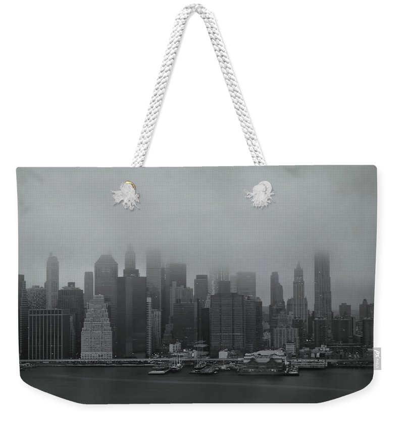 New York Weekender Tote Bag featuring the photograph Urbanoia by Evelina Kremsdorf
