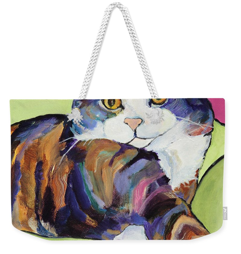 Pat Saunders-white Canvas Prints Weekender Tote Bag featuring the painting Ursula by Pat Saunders-White