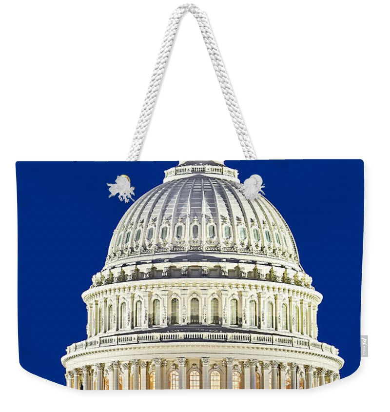 Metro Dc Weekender Tote Bag featuring the photograph Us Capitol Dome by Susan Candelario