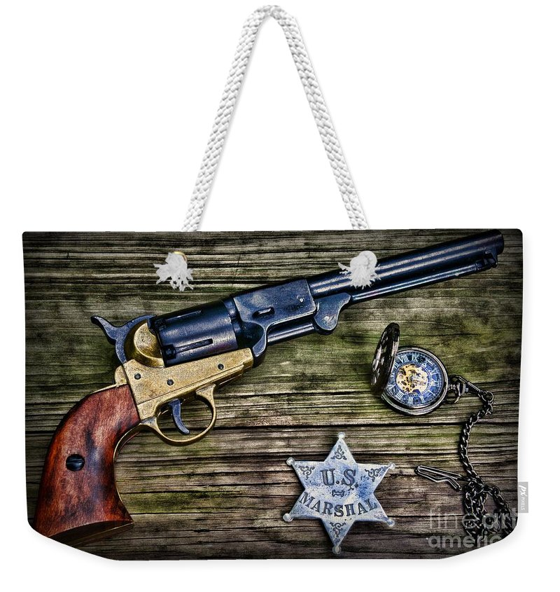 Paul Ward Weekender Tote Bag featuring the photograph Us Marshall - American Justice - Cowboy by Paul Ward