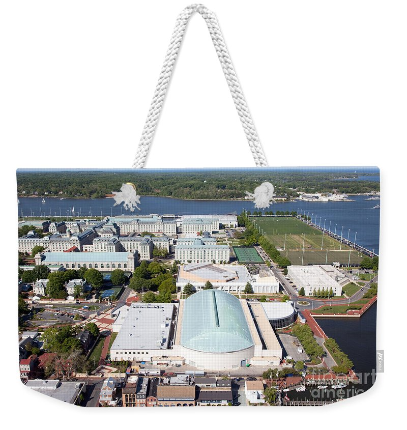 Academy Weekender Tote Bag featuring the photograph Us Naval Academy by Bill Cobb