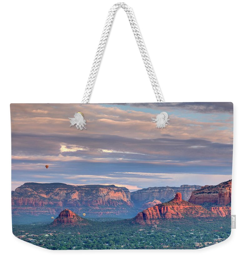 Scenics Weekender Tote Bag featuring the photograph Usa, Arizona, Sedona by Michele Falzone