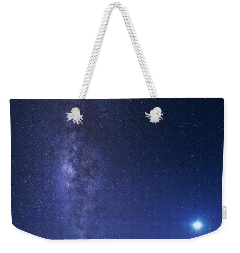 Tranquility Weekender Tote Bag featuring the photograph Usa, Hawaii, Maui, Milky Way by Michele Falzone
