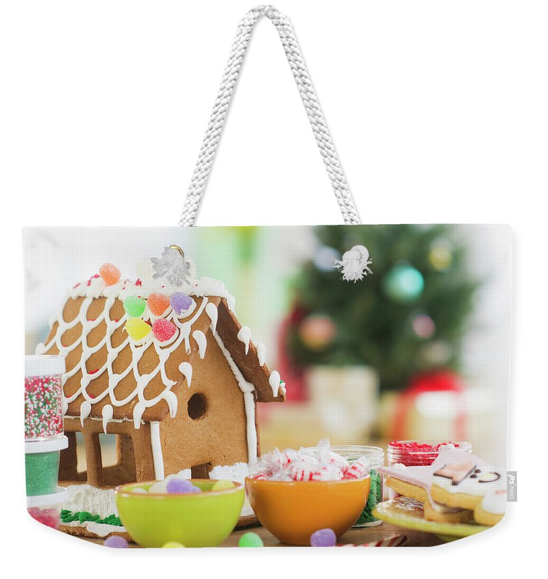 Christmas Ornament Weekender Tote Bag featuring the photograph Usa, New Jersey, Jersey City by Tetra Images - Daniel Grill
