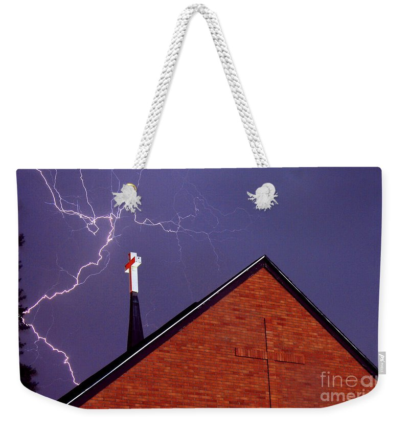 Jesus Weekender Tote Bag featuring the photograph Usain Bolt by Anthony Wilkening