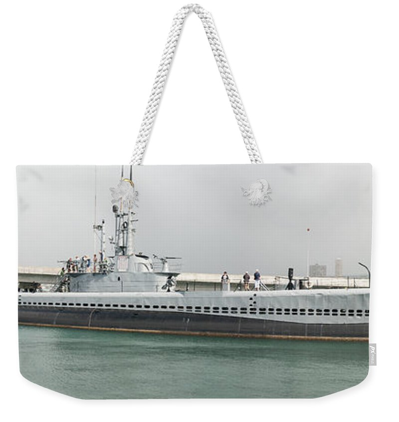 Uss Bowfin (ss-287) Weekender Tote Bag featuring the photograph Uss Bowfin Ss-287 by Richard J Cassato