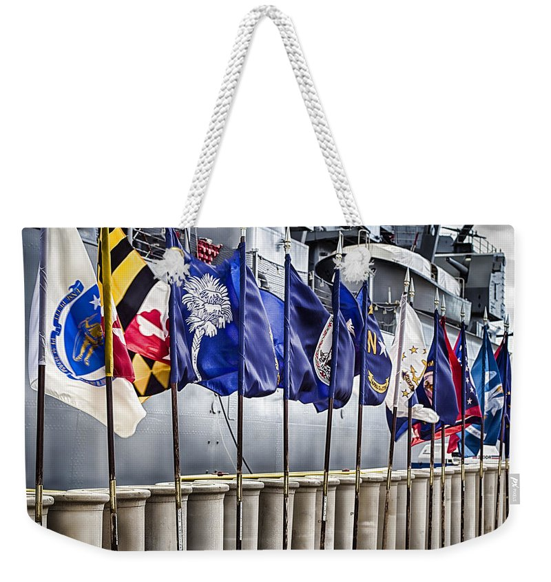Uss Arizona Memorial Weekender Tote Bag featuring the photograph Uss Missouri-pearl Harbor Hawaii V2 by Douglas Barnard