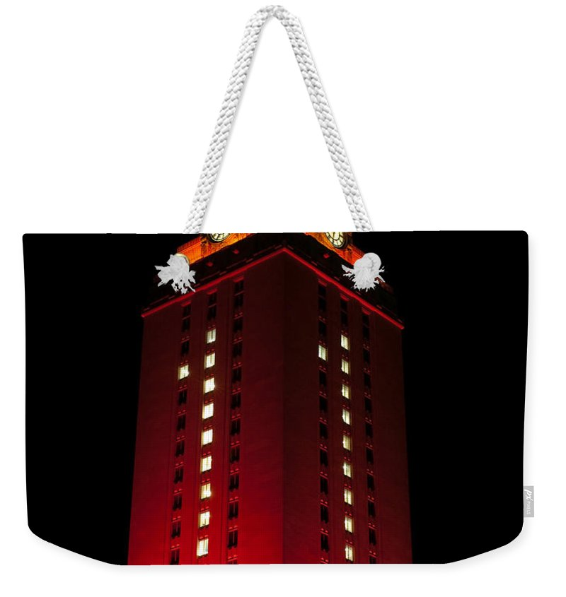 Ut Tower Weekender Tote Bag featuring the photograph Ut Tower 1 by Sean Wray