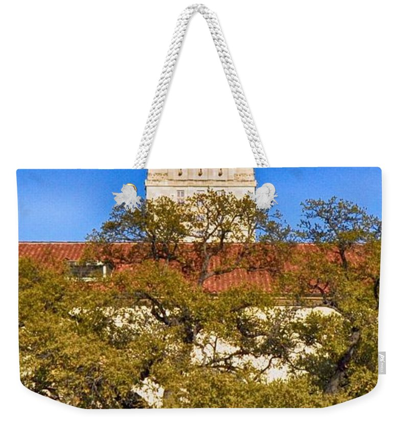 Iphone Case Of Ut Austin Weekender Tote Bag featuring the photograph Ut Tower by Kristina Deane