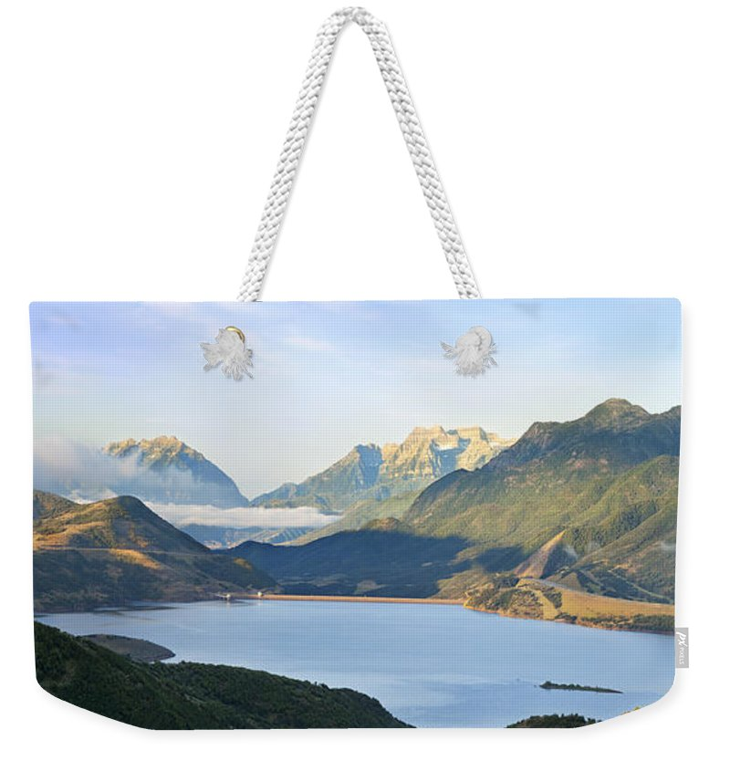 Wasatch Weekender Tote Bag featuring the photograph Utah Dawn by Brian Jannsen