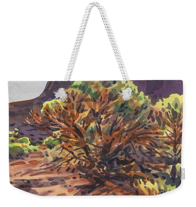 Utah Juniper Weekender Tote Bags