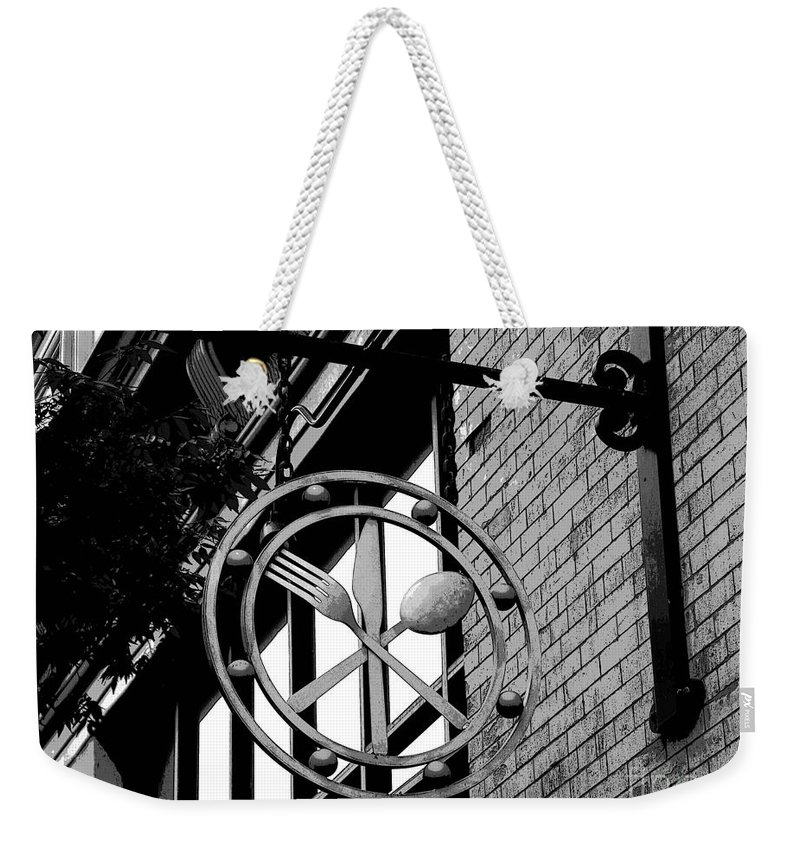 Signs Weekender Tote Bag featuring the photograph Utensils by Cindy Manero