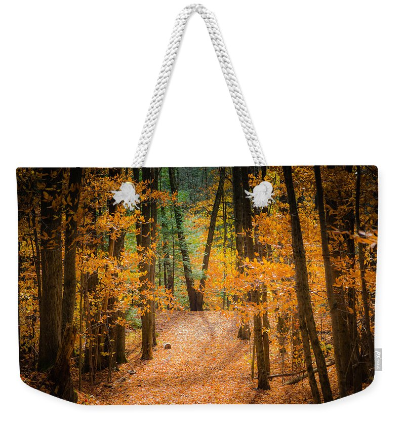 Trees Weekender Tote Bag featuring the photograph V For Victory by Victor Utama