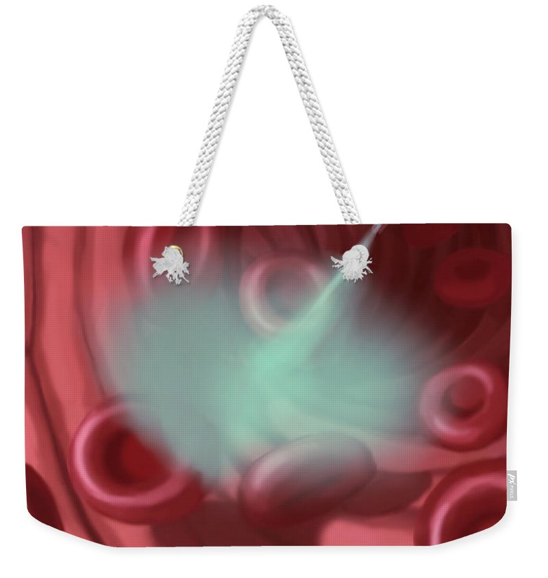 Illustration Weekender Tote Bag featuring the photograph Vaccine by Spencer Sutton