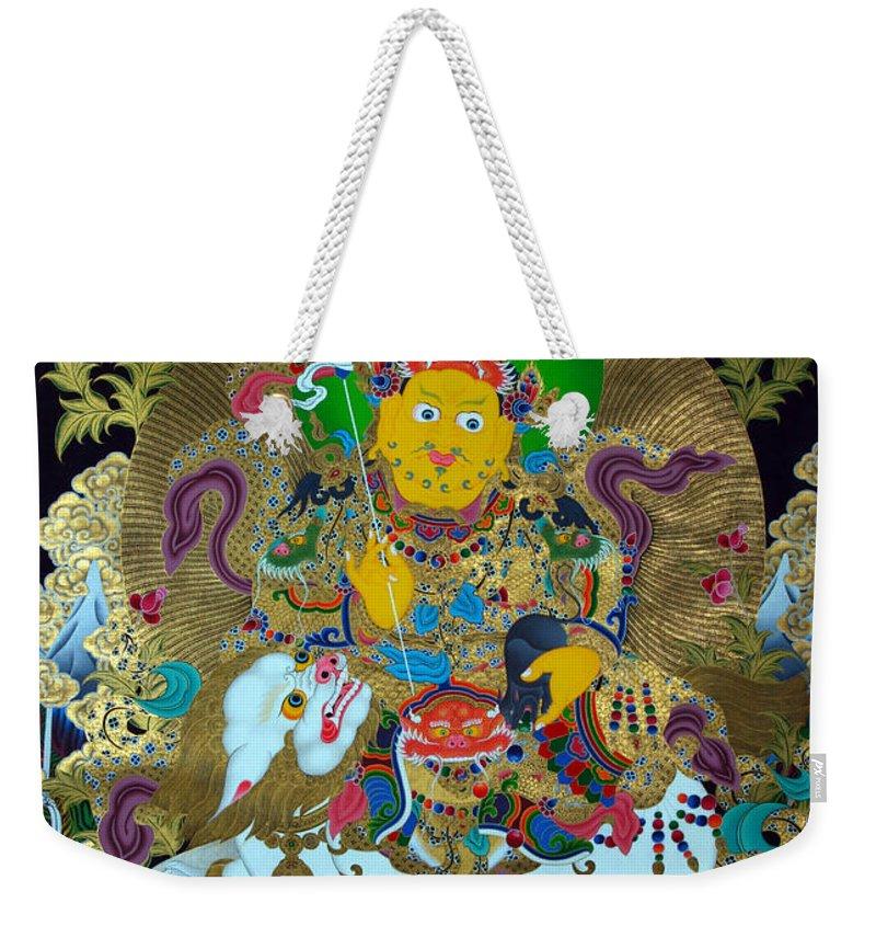 Treasurer Of The Gods Kubera Weekender Tote Bag featuring the photograph Vaishravnna 8 by Jeelan Clark