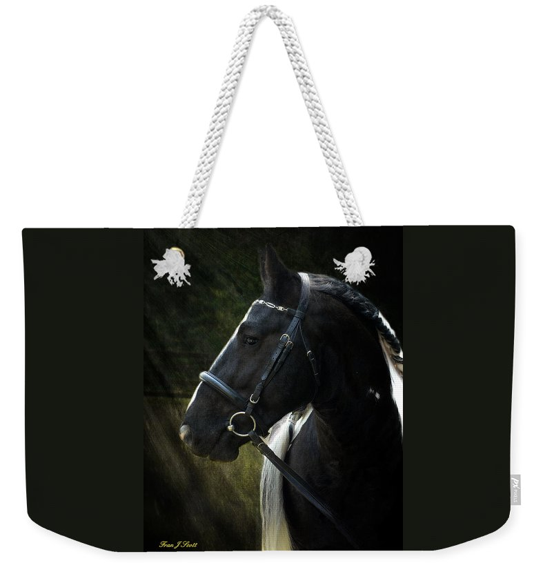 Horses Weekender Tote Bag featuring the photograph Val Headshot by Fran J Scott