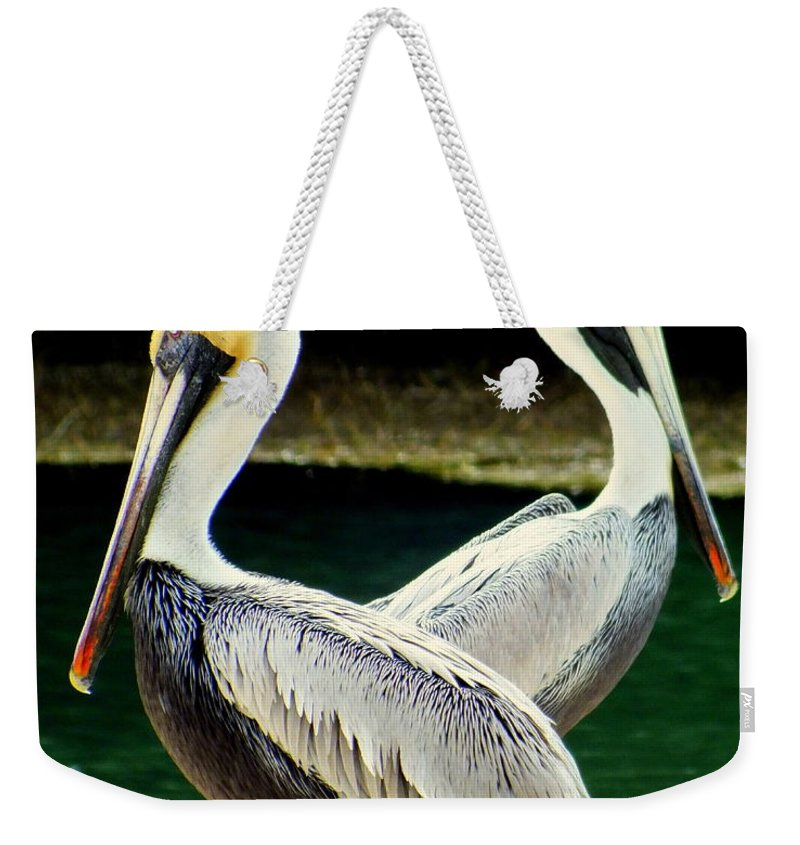 Birds Weekender Tote Bag featuring the photograph Valentine Dance by Karen Wiles
