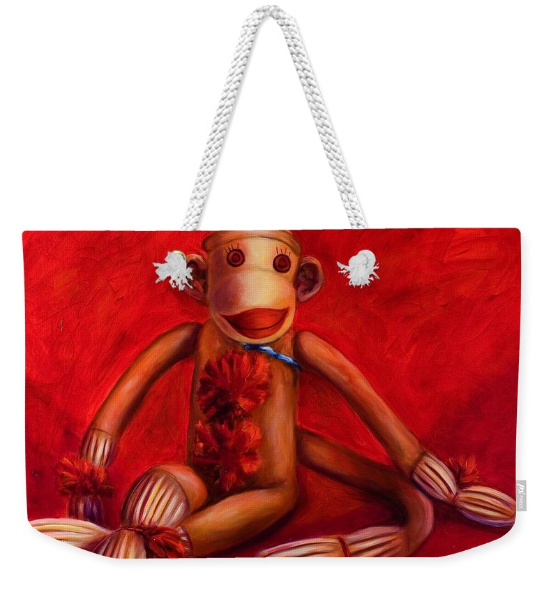 Children Weekender Tote Bag featuring the painting Valentine by Shannon Grissom