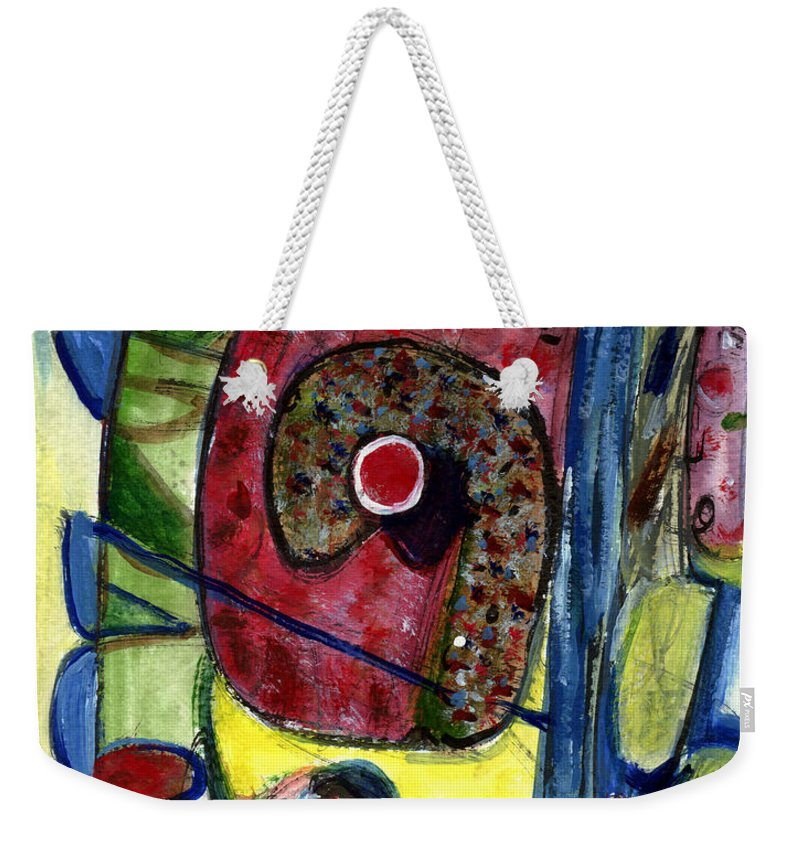 Abstract Art Weekender Tote Bag featuring the painting Valentine by Stephen Lucas