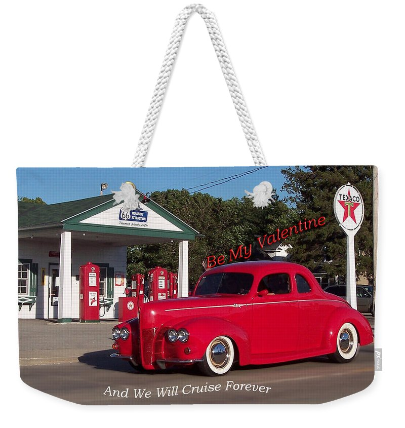 St. Valentine Weekender Tote Bag featuring the photograph Valentine We Will Cruise Forever by Thomas Woolworth