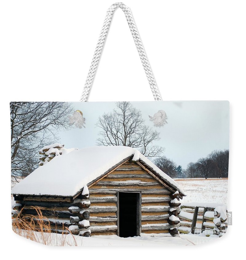 Valley Forge Weekender Tote Bag featuring the photograph Valley Forge Winter 3 by Terri Winkler