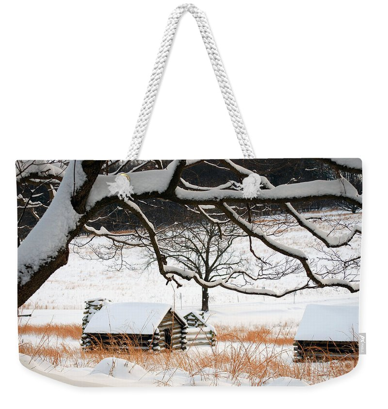 Valley Forge Weekender Tote Bag featuring the photograph Valley Forge Winter 4 by Terri Winkler