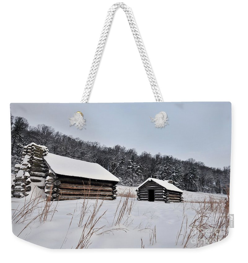 Valley Forge Weekender Tote Bag featuring the photograph Valley Forge Winter 7 by Terri Winkler