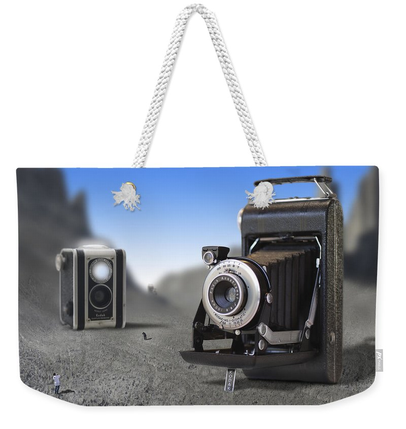 Pop Art Weekender Tote Bag featuring the photograph Valley Of The Fallen II by Mike McGlothlen