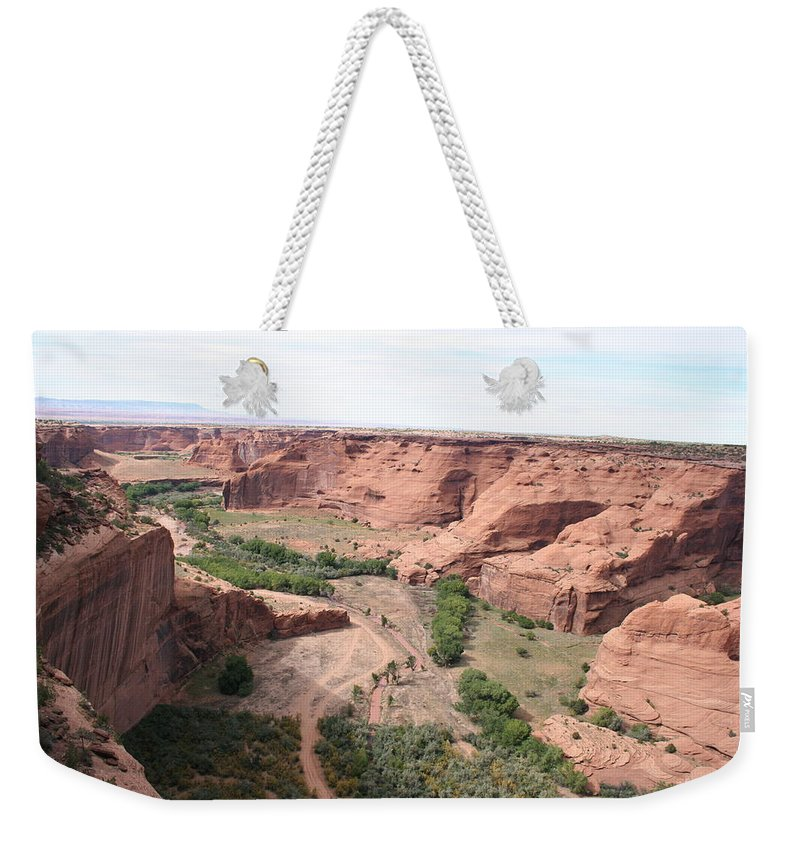 Valley Weekender Tote Bag featuring the photograph Canyon De Chelly Valley View  by Christiane Schulze Art And Photography