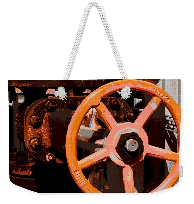Hopper Weekender Tote Bag featuring the photograph Valve by Guy Pettingell