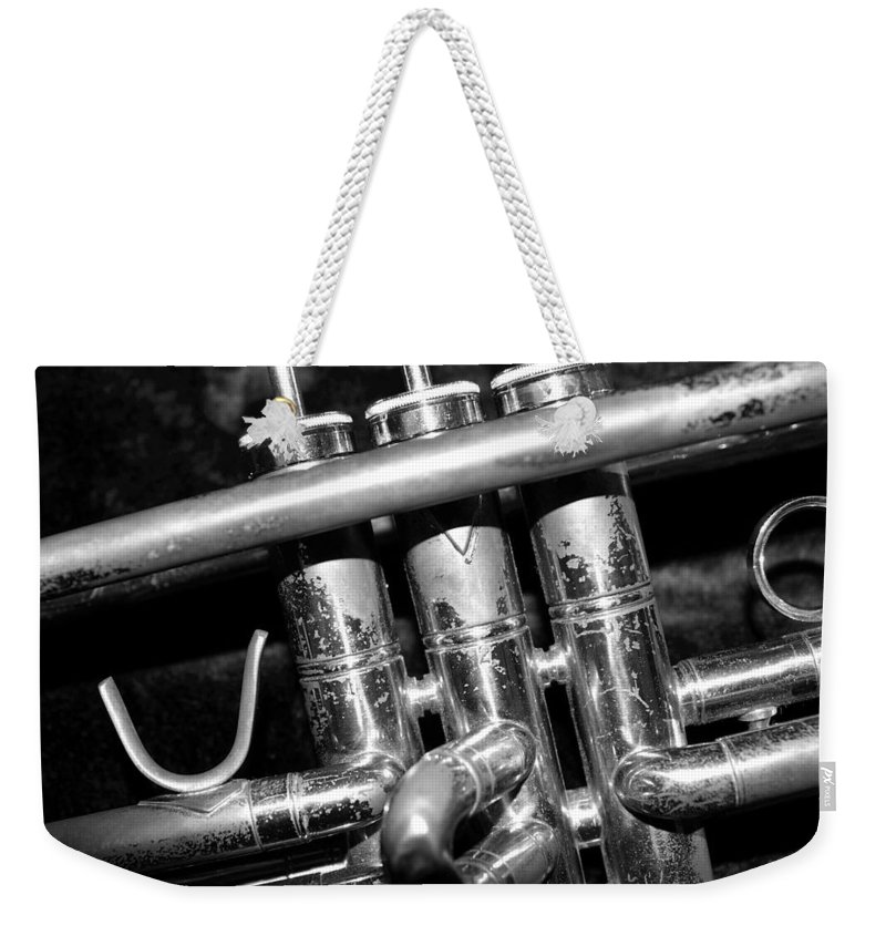 Trumpet Weekender Tote Bag featuring the photograph Valves by Photographic Arts And Design Studio